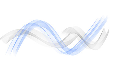 Abstract blue background, abstract lines twisting into beautiful bends