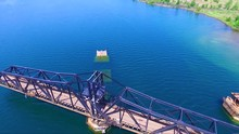 Open Swing Bridge On A River I...