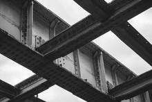 Steel Girders Under A Bridge