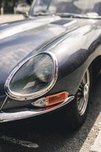 Vintage Sports Car Headlight
