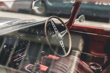 Vintage Sports Car Interior
