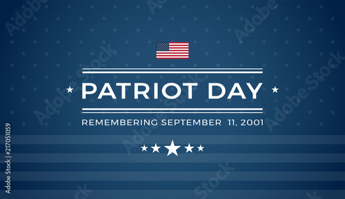 Papel de parede  Patriot Day 9/11 blue background Remembering September 11 2001 - vector illustra