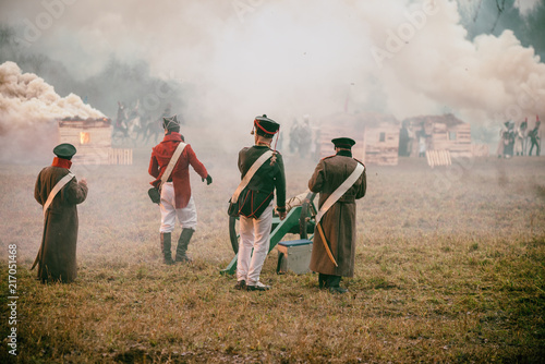 Fotografija Reconstruction of the battle of the war of 1812