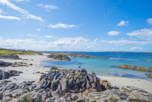 Tuinposter Kust Panorama of an irish coast along the atlantic ocean in summer