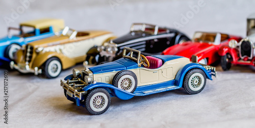 Foto  collection of old car model