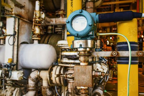 Billede på lærred Pressure transmitter, and temperature transmitter for measurement and monitor data of oil and gas process
