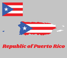 Map Outline Of Puerto Rico, Ho...