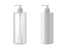 White Cosmetic Bottles Isolate...