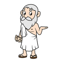Cartoon Greek Philosopher