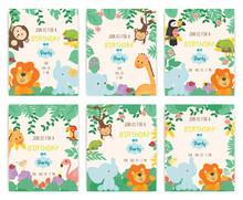 Cute Animal Theme Birthday Par...