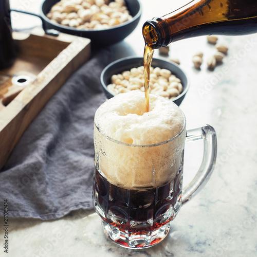 Staande foto Bier / Cider Glass of beer