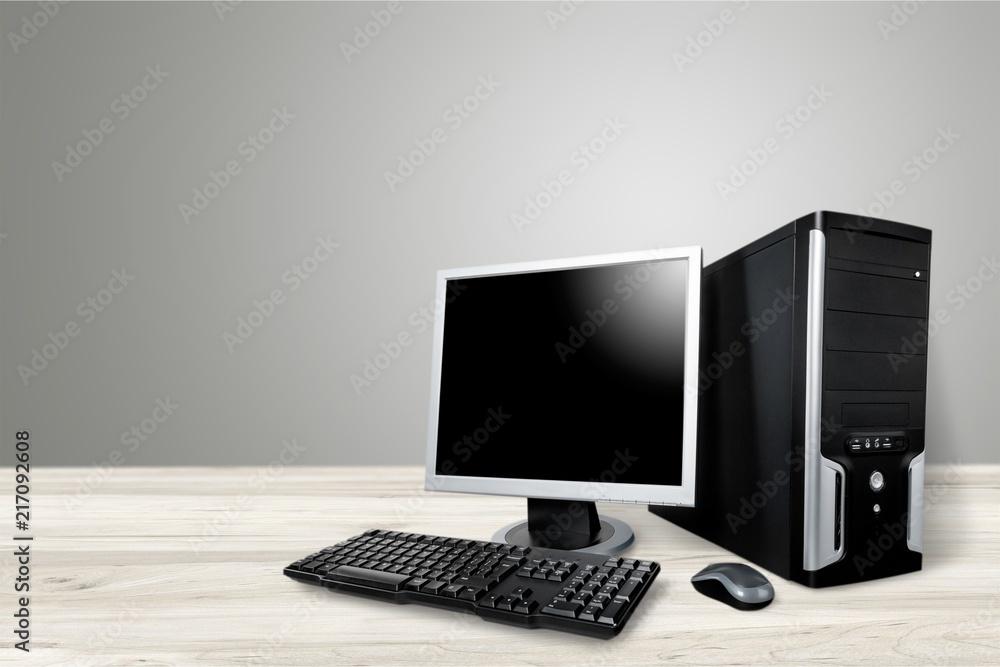 Fotografia  Blank computer monitor at the desk