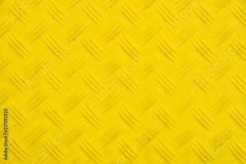 Anti slip yellow plastic plate with diamond pattern Canvas Print