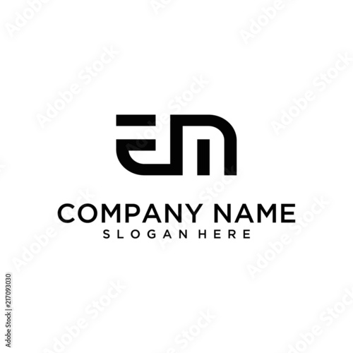Photo  EM letter logo design