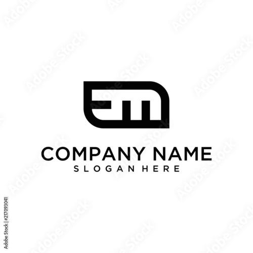 EM letter logo design Wallpaper Mural