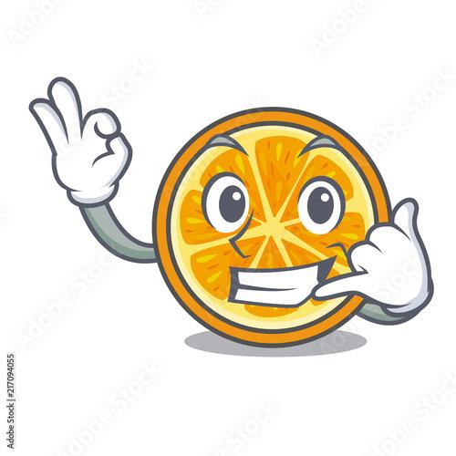 Fotografija  Call me orange mascot cartoon style