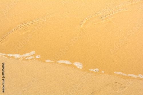Staande foto Oceanië Soft ocean wave with foam on the sandy beach sunny day in summer background in Gold Coast, Queensland, Australia