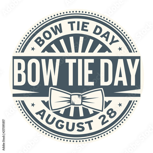 Canvas Bow Tie Day, August 28
