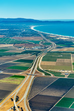 Farmland And Freeway 101 In Ca...