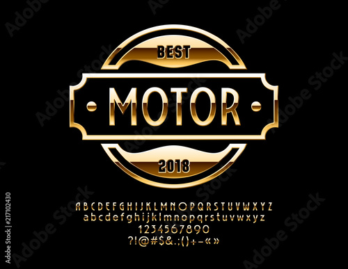 Vector Gold Logo Design For Luxury Car And Sportcar Shop Reflective