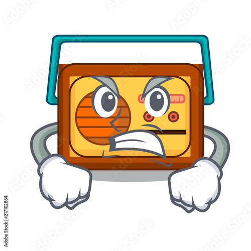 Canvas Print Angry radio mascot cartoon style