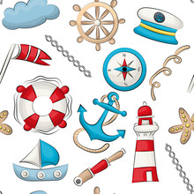 Marine Nautical Travel Theme. ...