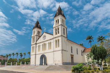Sao Tome, the beautiful cathedral in the town