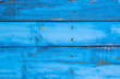 Blue horizontal background of old wood boards