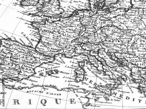Tuinposter Mediterraans Europa 古地図 ヨーロッパ