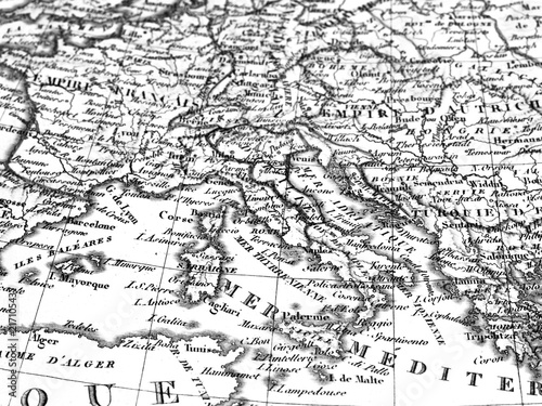 Papiers peints Europe Méditérranéenne 古地図 ヨーロッパ