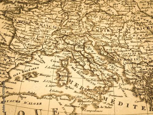 Spoed Foto op Canvas Mediterraans Europa 古地図 ヨーロッパ