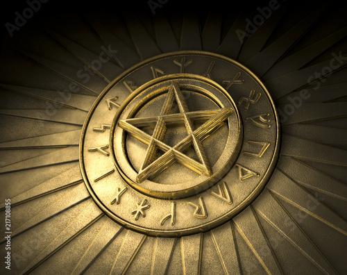Valokuva  Pentagramm Runen