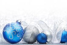 Glitter Christmas Balls And Ri...