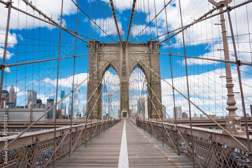 Valokuva Brooklyn bridge in New York city
