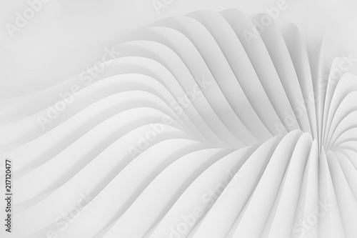Fototapety, obrazy: Abstract background from a serpentine flowing waves. 3d illustration