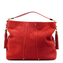 Red Handbag Isolated On White Background.