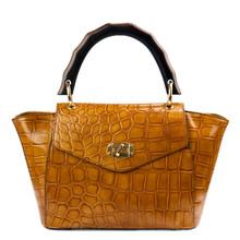 Orange Handbag Isolated On White Background.