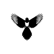 Fly Magpie Silhouette
