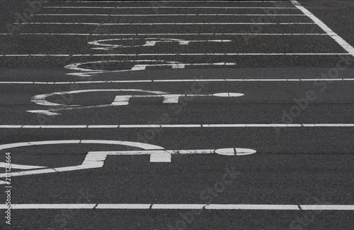 Fotografie, Obraz  身体障害者用駐車場