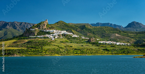 Fotografía  Zahara de la Sierra, beautiful town located in the Sierra de Grazalema