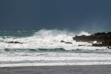 Rough seas in Cornwall