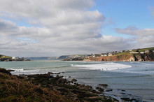 Surf Breaking On Bantham Beach
