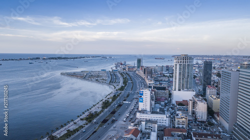 Photo Aerial photograph of the marginal of Luanda, Angola