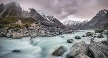 Hooker River, Hooker Valley, R...