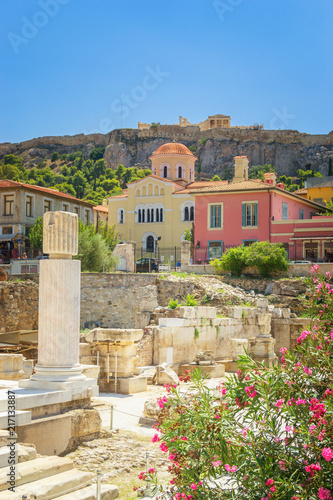 Foto op Canvas Athene Hadrian's Library Athens, Greece