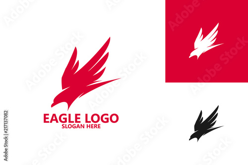 Naklejka premium Eagle Logo Template Design Vector, Emblem, Design Concept, Creative Symbol, Icon