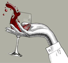 Woman's Hand Holding A Glass W...