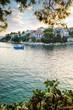 Ausblick auf der wunderschöne Insel Skiathos in Griechenland