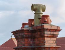 Red Brick Chimney Stack