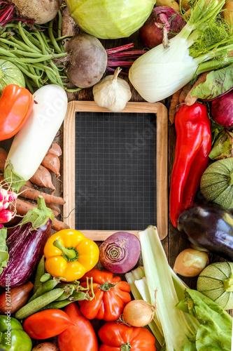 Légumes du jardin printemps / été ardoise vierge Canvas Print